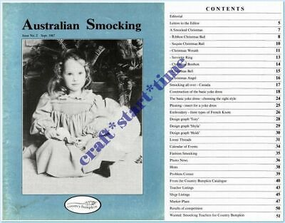 Australian Smocking Issue 02 **Oop*Very Rare** : September 1987 : Vgc