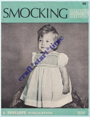 SMOCKING : A PENELOPE PUBLICATION : Number N3 : circa 1960's