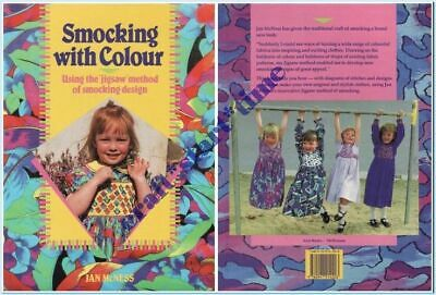 SMOCKING WITH COLOUR : AUSTRALIAN : Jan McNess : 1991 : Using the jigsaw method