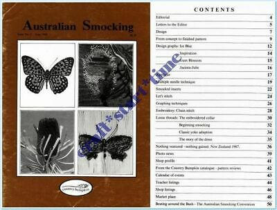 Australian Smocking Issue 05 **Oop*Very Rare** : June 1988 : Vgc