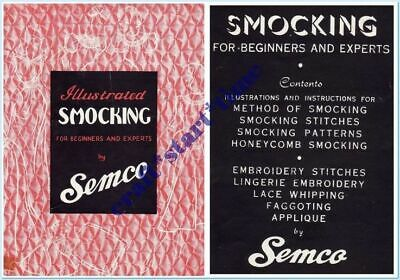 SEMCO VINTAGE SMOCKING FOR BEGINNERS and EXPERTS c1960's