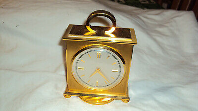 Vintage Swiss Concord 8 day HeavBrass clock weather station rotating runs repair