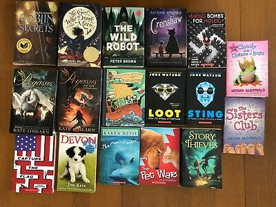 Lot of 17 (10 Hardback/7 Paperback) Chapter Books for 4th, 5th, 6th grade girls