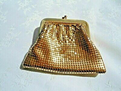 Vintage gold mesh coin purse - Made in West Germany - Like new !