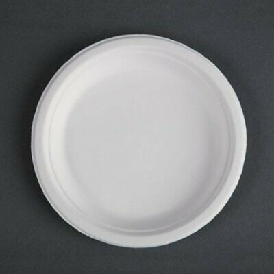 Fiesta Green Compostable Bagasse Plates Round 179mm (Pack of 50) (Pack of 50) CW