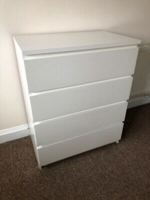 IKEA Malm CHEST OF DRAWERS white Collection From North London N22