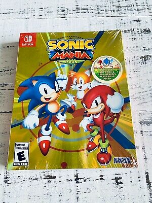 Sonic Mania Plus Launch Edition With Art Book Nintendo Switch SEGA New Sealed