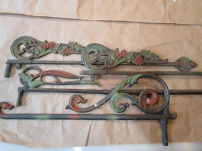 Vintage 1920s Swing Arm Curtain Rods Mix Lot expandable and not