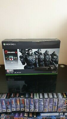 Xbox One X 1TB 4K Console with Gears 5 Bundle - Black, New
