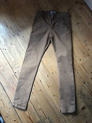 Boys Next Tan Skinny Chino Trousers.  Age 11