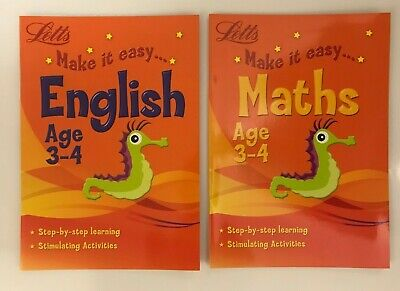 Home Education Early Learning English & Maths Bundle of 2 Workbooks Ages 3-4