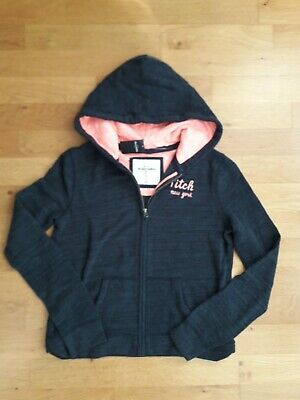 Kids/Girls Abercrombie & Fitch Navy/pink Hooded Sweat tracksuit Jacket size XL