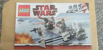 Lego 8084 Star Wars Snowtrooper INSTRUCTION BOOKLET MANUAL BOOK ONLY