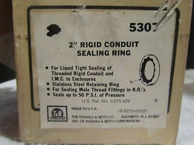 "Thomas & Betts Rigid Conduit Sealing Rings 2""  60 pcs"