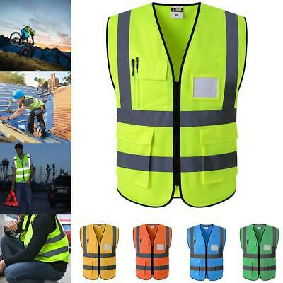 High Visibility Reflective Safety Vest Working Cycling Traffic Warning Jacket