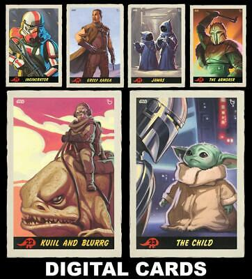 Topps Star Wars Card Trader The Mandalorian From the Outer Reaches [6 CARD SET]