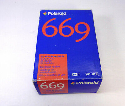 Polaroid 669 Polacolor ER Instant Film ISO 80 Color 20 Photo Pack Exp. 02/2004