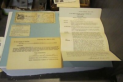 1935 Bernard Evander Baltimore City Council Candidate Resume Check Signed Note