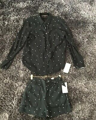Womens Zara Outfit Co Ord Outfit Set In Size Small