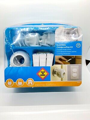 Safety 1st 43 Piece Safety Essentials Set Baby Child Proofing Knob Cover Latches
