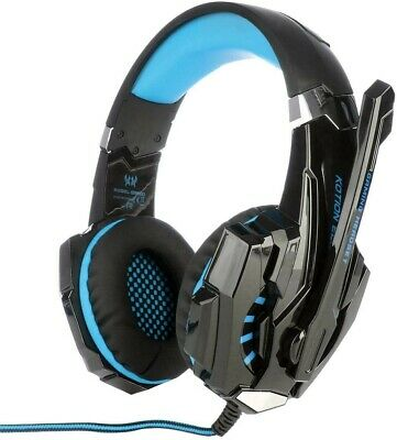 KOTION EACH - Pro Gaming Headset - G9000 - Black and Blue for Video Games