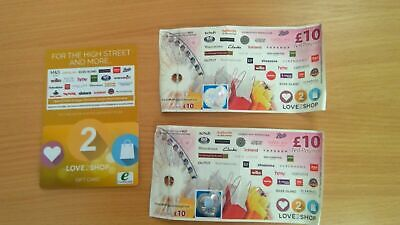 Love2Shop Vouchers  £20 (GIFT VOUCHERS) Valid at many Shops/Stores!