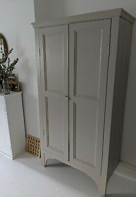 Stunning Antique wardrobe/armoire/cupboard in F+B elephants breath