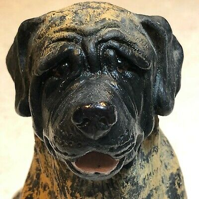 English Mastiff Dog Figurine Statue- REALISTIC- Signed and Numbered By Artist-