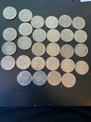 Lot Of 28 Canada Fifty 50 Cent Coins - As Pictured - FV $14.00