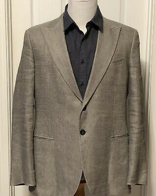 Giorgio Armani Made in Italy Unlined Linen Sport Coat Jacket Blazer Sz 46R $2995