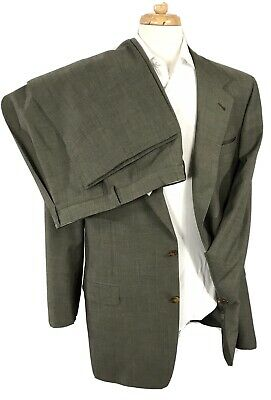 CANALI Proposta Wool Suit 42L Jacket 34x32 Pants 2-Btn/Twill/Olive Green ITALY