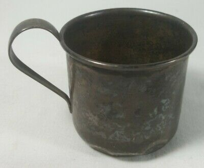 Antique s&b Jaart sterling silver Baby Mug Cup 32grams 1890-1910 D.M.B. monogram