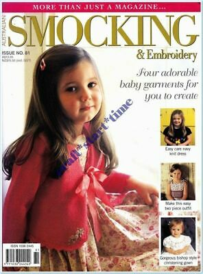 AUSTRALIAN SMOCKING and EMBROIDERY ISSUE 81 : 2007 : INTACT