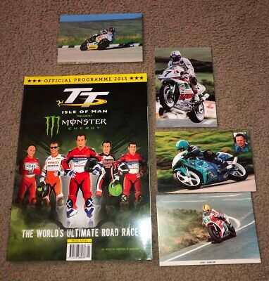 2013 TT Isle Of Man Official Programme Monster Energy W/ Postcards