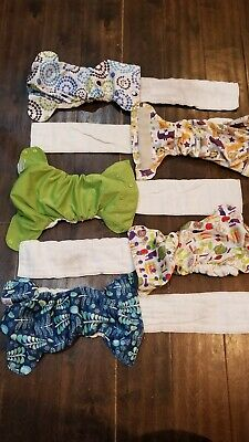Blueberry OS One Size Simplex AIO All In One Diapers Lot of 5 WORN 12-35 lbs