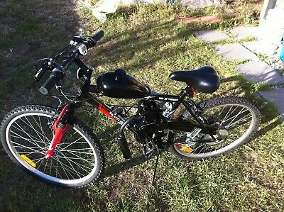 Motor assisted bicycle works with two stroke fuel 50cc