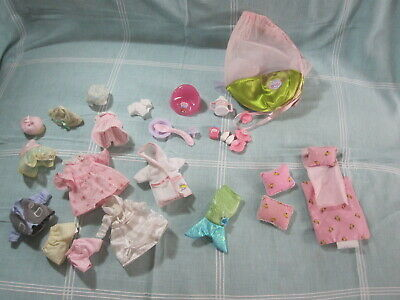 Zapf Creations Mini World clothes, potty, accessories, over 30 items