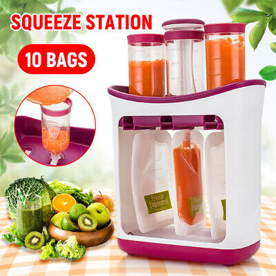 Newborn Squeeze Fruit Juice Station Feeding Kit Baby Food Storage ContainerMaker