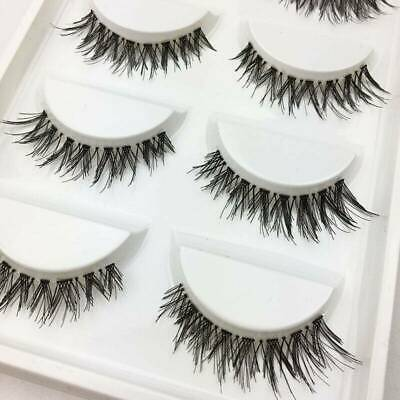 💙5 Pairs 3D False Eyelashes Mink Wispy Cross Long Thick Soft Fake Eye Lashes💙