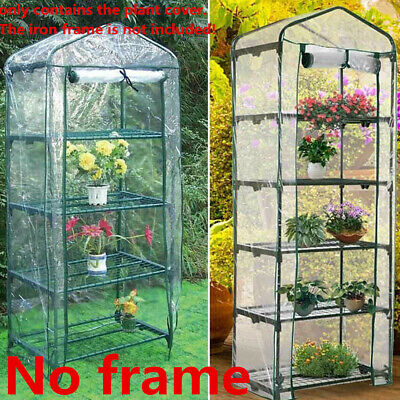 NO Frame 4 / 5Tier Small Greenhouse Bag Garden Plant Cover Clear Plastic Growbag