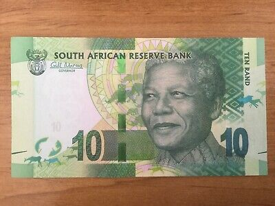 South African Reserve Bank 10 Rand Nelson Mandela UNC  Banknote