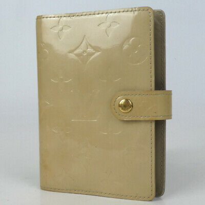 Authentic LOUIS VUITTON R21010 Monogram Vernis Agenda PM CA1011 Notebook cov...
