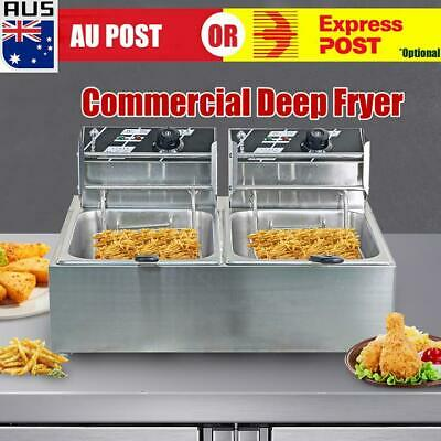 Commercial Electric 5000W Countertop Deep Fryer Twin Frying Basket Chip Cooker O