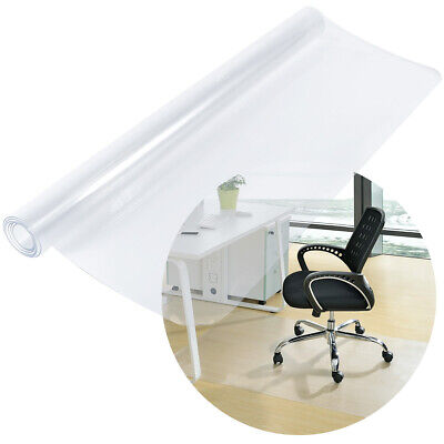 120cm Square PVC Clear Home Office Floor Mat Chair Protector Cover Carpet 1.50mm