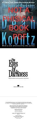 The Eyes of Darkness by Dean Koontz Reprint 📚 (1996 E-MAILED ) ⚡️FAST SHIPPING⚡