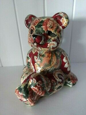 VINTAGE ORNAMENT/FIGURINE OF A VERY CUTE BEAR BEAUTIFULLY MADE APPROX 13.8CM Hg