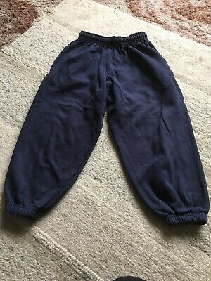 Girls Fruit Of The Loom Navy School Joggers - Size 5-6 Years