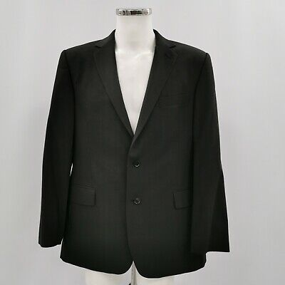 AUSTIN REED Black Wool Long sleeved Single Breasted Blazer Mens Size 44R 513782