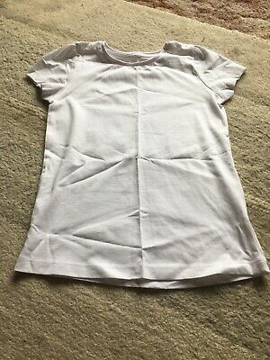 Girls Tu White School Sports Top - Size 8 Years