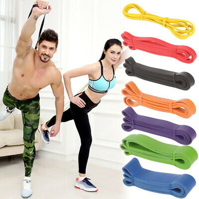 New Resistance Loop Bands Singles Exercise Glutes Yoga Fitness Home Gym Workout
